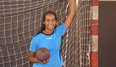 La jeune Cassidy, grand espoir du handball féminin.