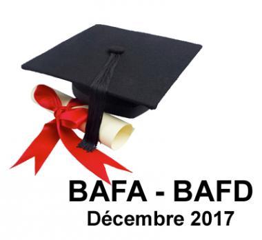 Lauréat BAFA BAFD Décembre 2017