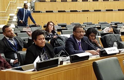 Valentine Eurisouké lors de la concertation des ministres de la jeunesse des pays membres de l'OIF.