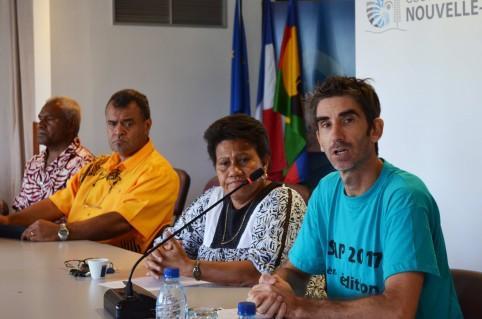 Annonce de la 3e édition de la Jisap, par Valentine Eurisouké et Ludovic Piquet, membre du Comité régional Sports pour tous.
