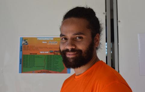Warren Naxue, président du Comité jeunesse de Nouvelle-Calédonie.