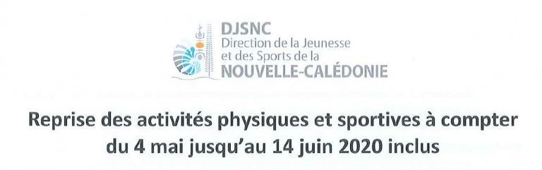 Reprise activites physiques et sportives DJS NC