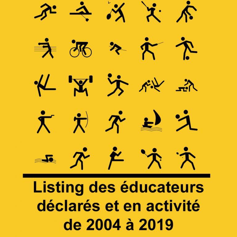 Logo listing des éducaeurs déclarés DJSNC 2004 2019